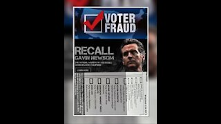 GAVIN NEWSOM RECALL ELECTION VOTEE FRAUD CAUGHT ON VIDEO