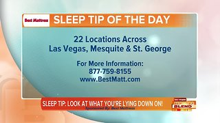 Sleep Tip: Know What You're Lying On!