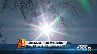 Excessive heat warning to go into effect mid-week