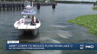 The U.S. Army Corps of Engineers to reduce Lake Okeechobee releases