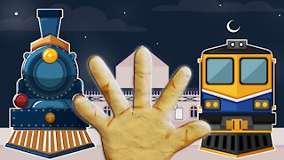 Finger Family Song Trains Daddy Finger Song Nursery Rhymes