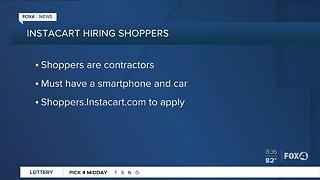 Instacart hiring shoppers