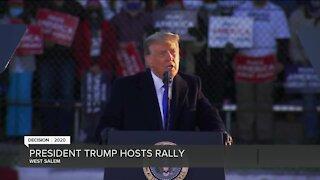 President Trump visits West Salen Tuesday