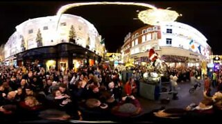 Fantastic panoramic view of Christmas lights in Dublin