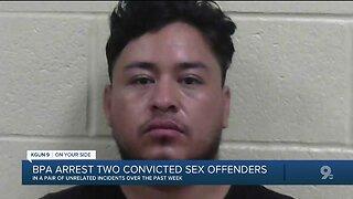 Border Patrol agents arrest sex offenders near Lukeville, Douglas