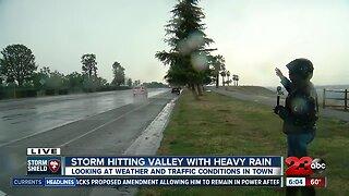 Storm hitting Valley with heavy rain