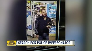 Search for police impersonator