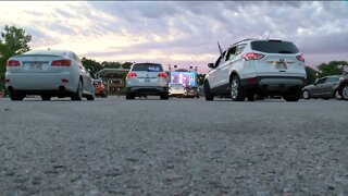 Drive-in movie-style virtual watch party held in Milwaukee County Zoo parking lot