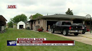 2 firefighters, 3 others injured in Sterling Heights house fire