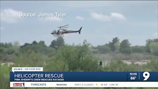 Sheriff's Helicopter lifts kayaker to safety