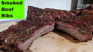 Smoked Beef Back Ribs Pellet Smoker Recipe, Green Mountain Grills