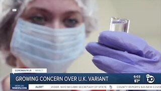 Growing concern over UK variant