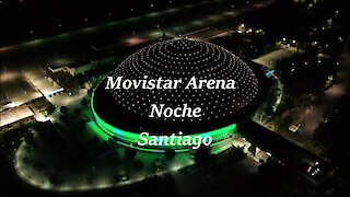 Movistar Arena at night time in Santiago, Chile