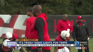 It's Friday night lights for Terps
