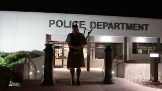 Local bagpipe band honors fallen police officers and fire fighters