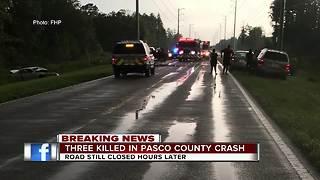 Three killed in Pasco County Crash