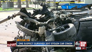 Teenager who survived fiery 2017 crash in stolen vehicle arrested for grand theft auto