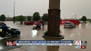 Harrisonville residents, business frustrated after flood, want city to fix problem