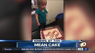 "Toddler got a ""Happy Birthday Loser"" cake?"
