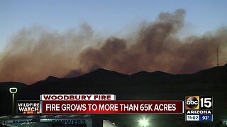 Woodbury Fire grows to more than 65,000 acres