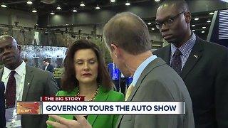 Governor Whitmer tours the auto show