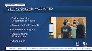 Baltimore City Health Department partners with City Schools to get students vaccinated