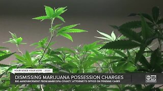 Maricopa County dropping pending marijuana possession charges