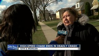 Victim's aunt discusses high-speed chase that ended in death