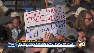 Bernie Sanders draws 6,400 people to rally