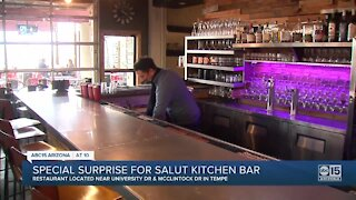 Special surprise for Salut Kitchen Bar