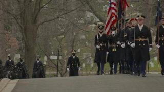 MG Donald Hilbert Full Honors funeral Arlington National Cemetery