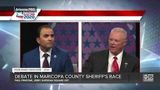 Penzone, Sheridan appeared in televised Maricopa Co. Sheriff debate Friday