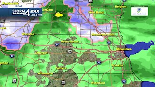 Rain showers continue into afternoon, evening