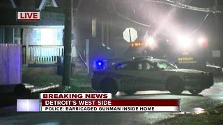 Barricaded gunman situation on Detroit's west side