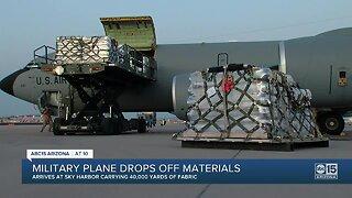 Military plane drops off materials in Arizona