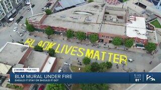 BLM mural under fire