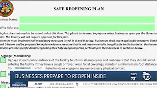 Businesses prepare to reopen inside
