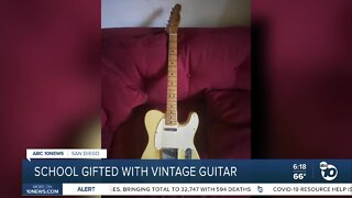 Grossmont HIgh gifted with vintage guitar