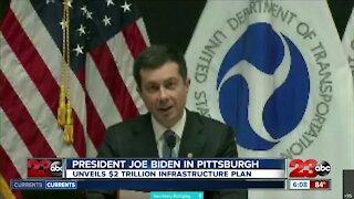 President Joe Biden in Pittsburgh, unveils $2 trillion infrastructure plan
