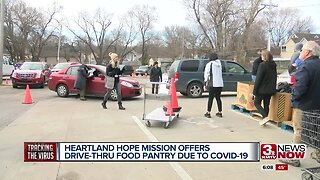 Heartland Hope Mission offers drive-thru pantry due to COVID-19