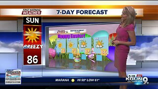 Breezy for Easter weekend