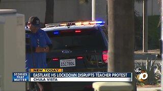 Lockdown disrupts teacher protest at Chula Vista school