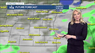 Cool temperatures Sunday with showers
