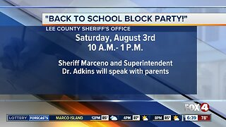 Lee County Sheriff hosting back to school block party