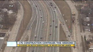 I-75 construction continues this weekend