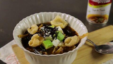 Bicolor Tortilla Soup