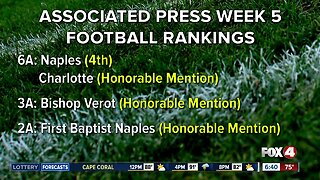 Week 5 high school football rankings: Naples holds position in top 5