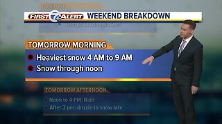 Winter Storm update: Winter storm warning with heavy snow on the way