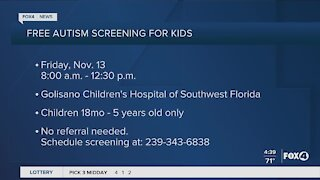 Free Autism screening for kids