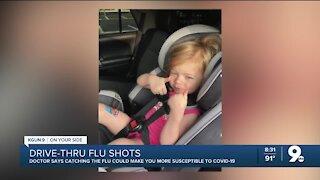 Drive-thru flu vaccination